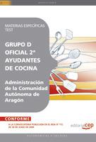 Oficial 2ª Ayudantes Cocina Administracion Comunidad Autonoma Aragon Materias Especificas Test