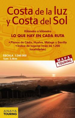 Mapa de carreteras de la Costa de la Luz y la Costa del sol