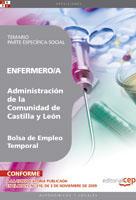 Enfermero/a Administracion Castilla y Leon Bolsa Empleo Temporal Parte Especifica Social