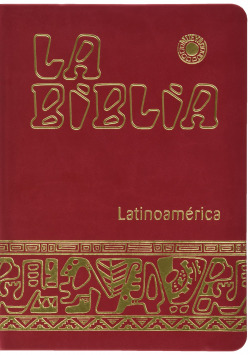 Biblia Latinoam. letra grande simil piel roja,canto oro uñeros