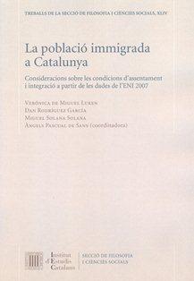 La població immigrada a Catalunya