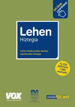 Diccionario euskera Leheb Hiztegia