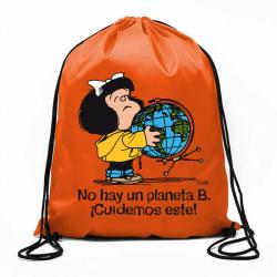 BOLSA DE CUERDAS MAFALDA - NO HAY UN PLANETA B