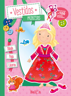 Vestidos Princesas Dibuja, pega y colorea