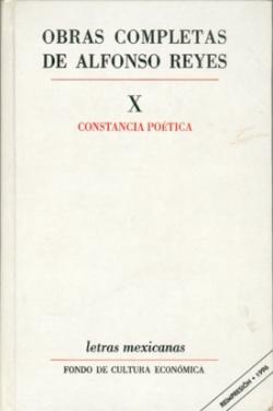 Obras completas, X : Constancia poética