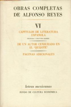 Obras completas, VI : Capítulos de literatura española, De un autor censurado en el Quijote , Página