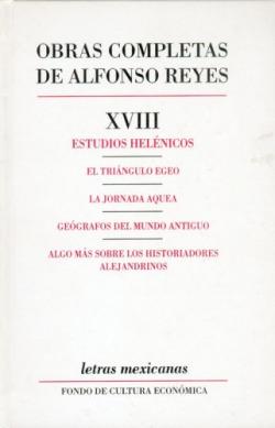 Obras completas, XVIII : Estudios helénicos