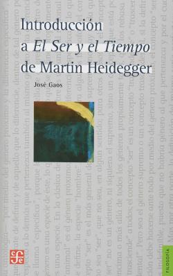 INTRODUCCIÓN A SER Y TIEMPO DE MARTIN HEIDEGGER