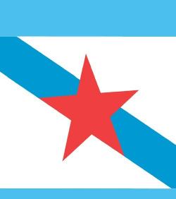 (Postal) Bandeira Galega
