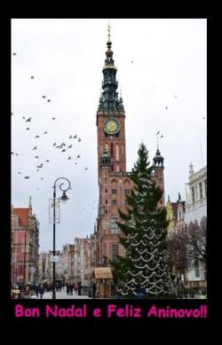 (Postal) Bon Nadal Cidade en Nadal